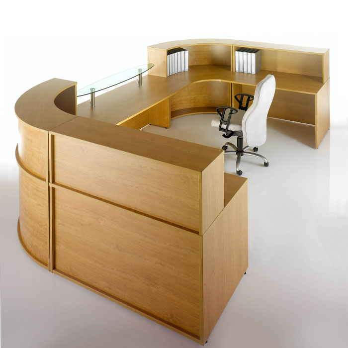 U shaped modular reception desk reception furniture for Reception furniture
